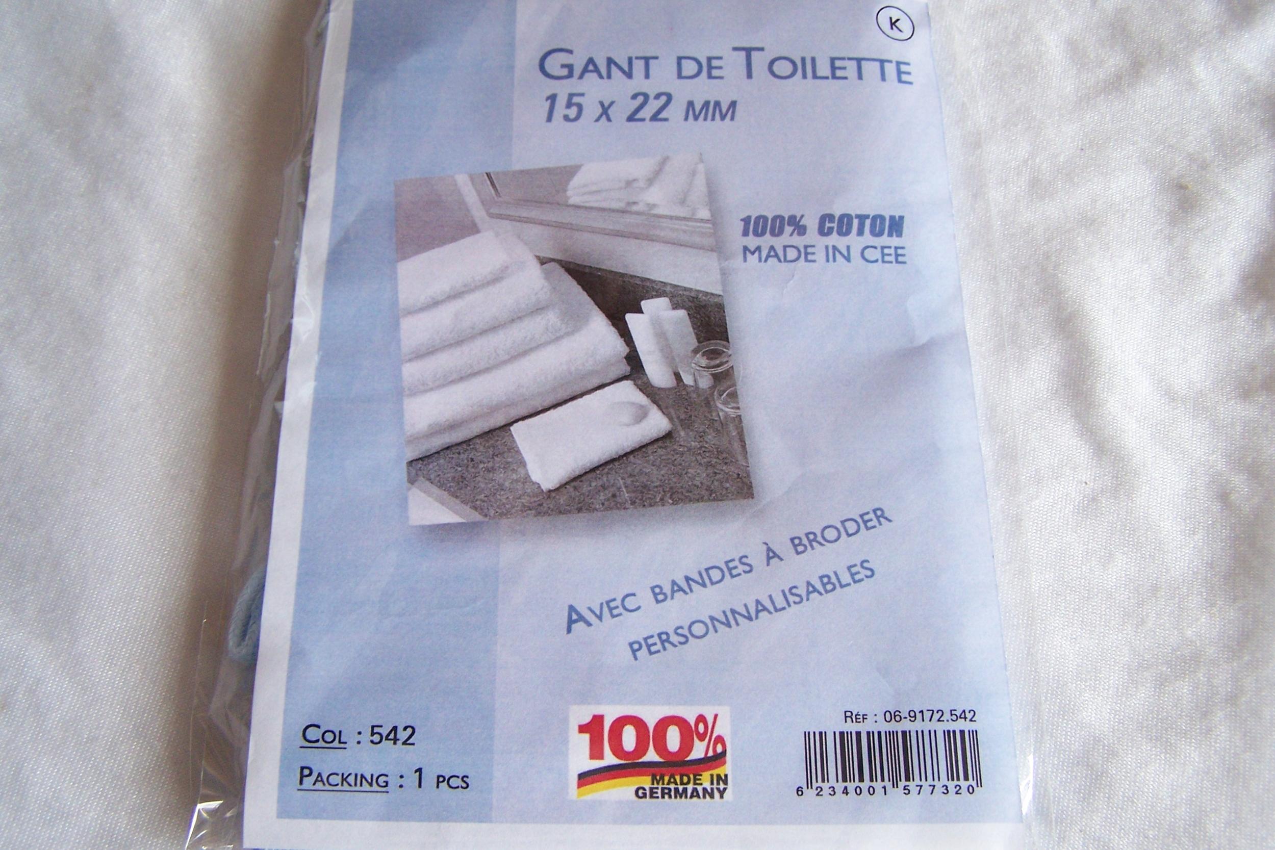 Gant de toilette, bleu layette