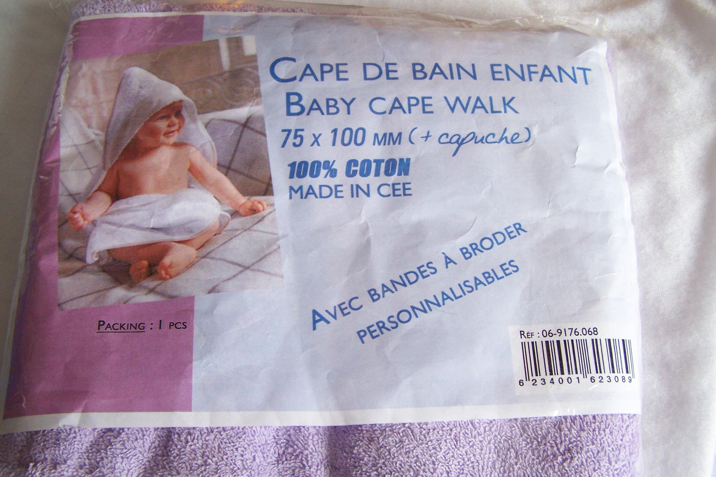 Cape de bain pour enfant, lilas