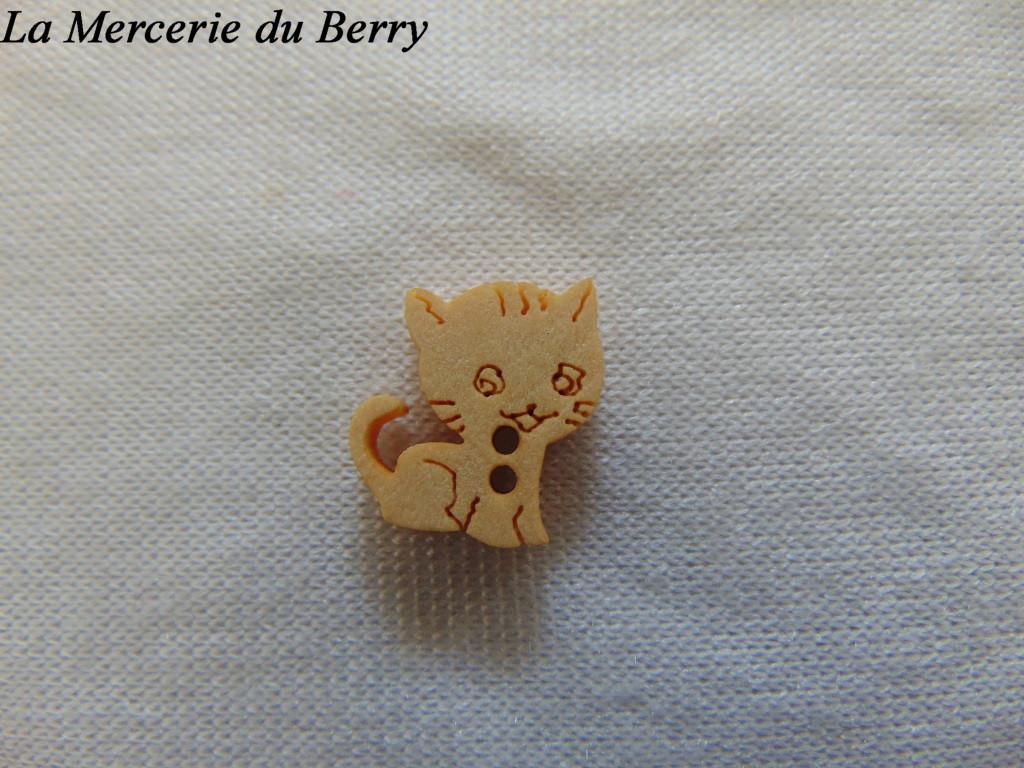 Bouton bois, chat