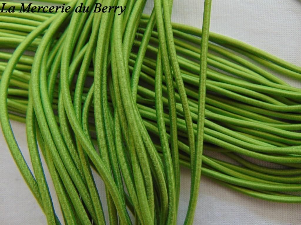 Elastique rond, vert olive, 2.5 mm