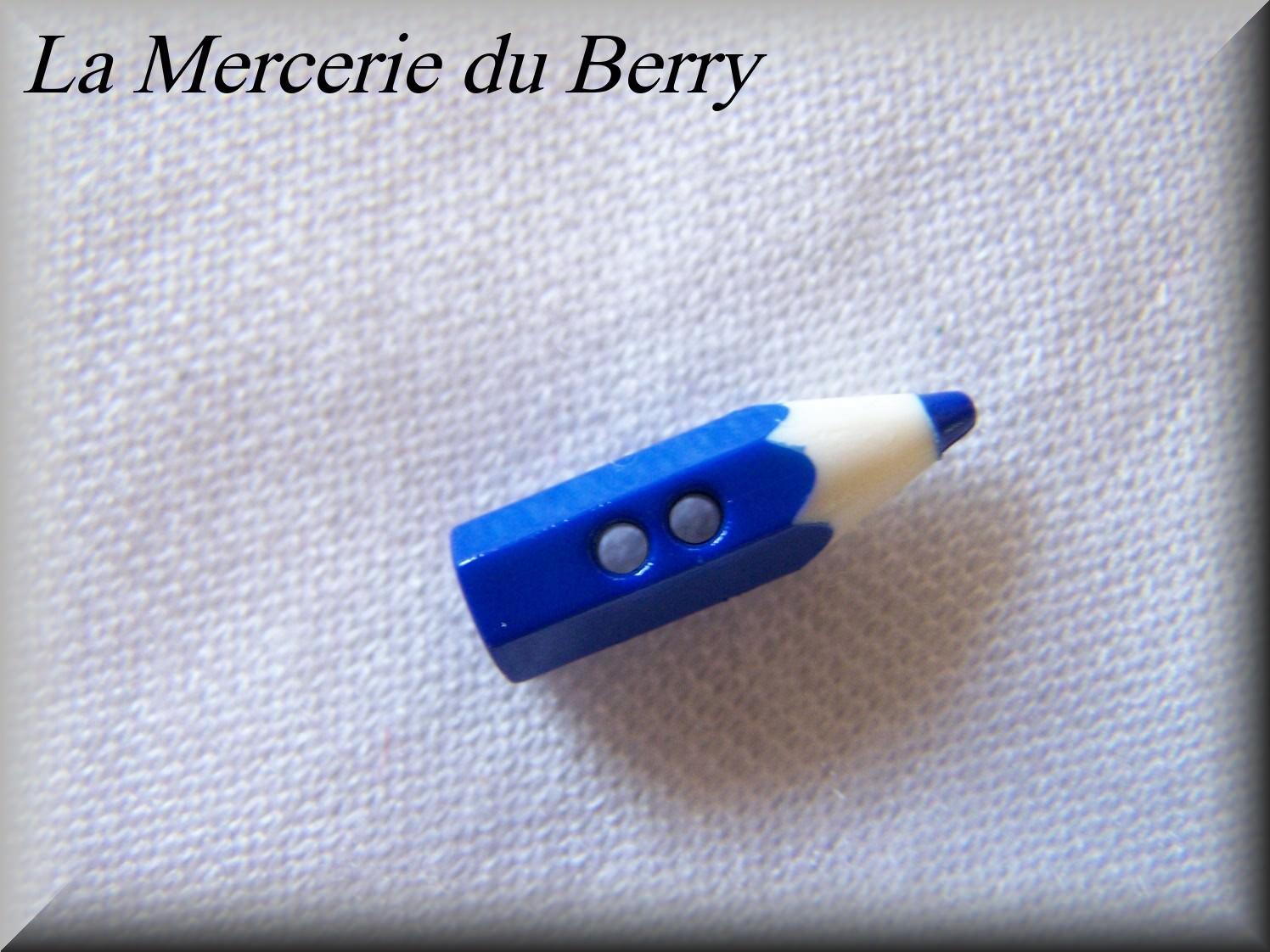 Bouton crayon bleu
