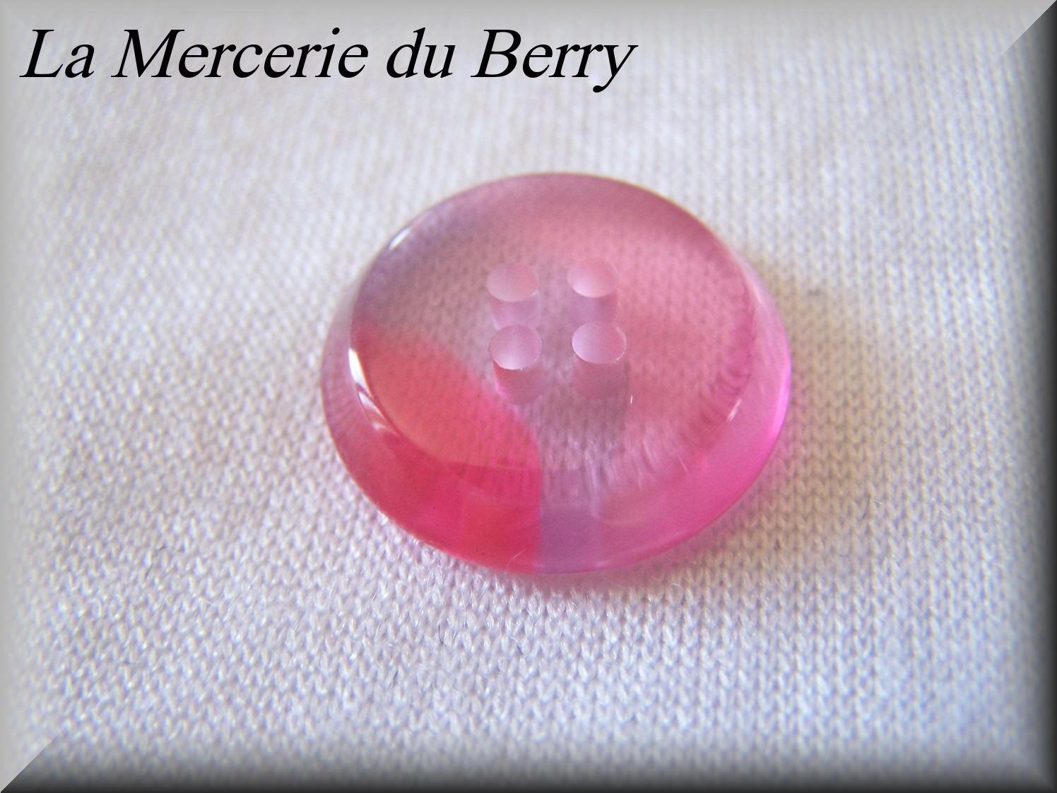 Bouton rose, 22 mm