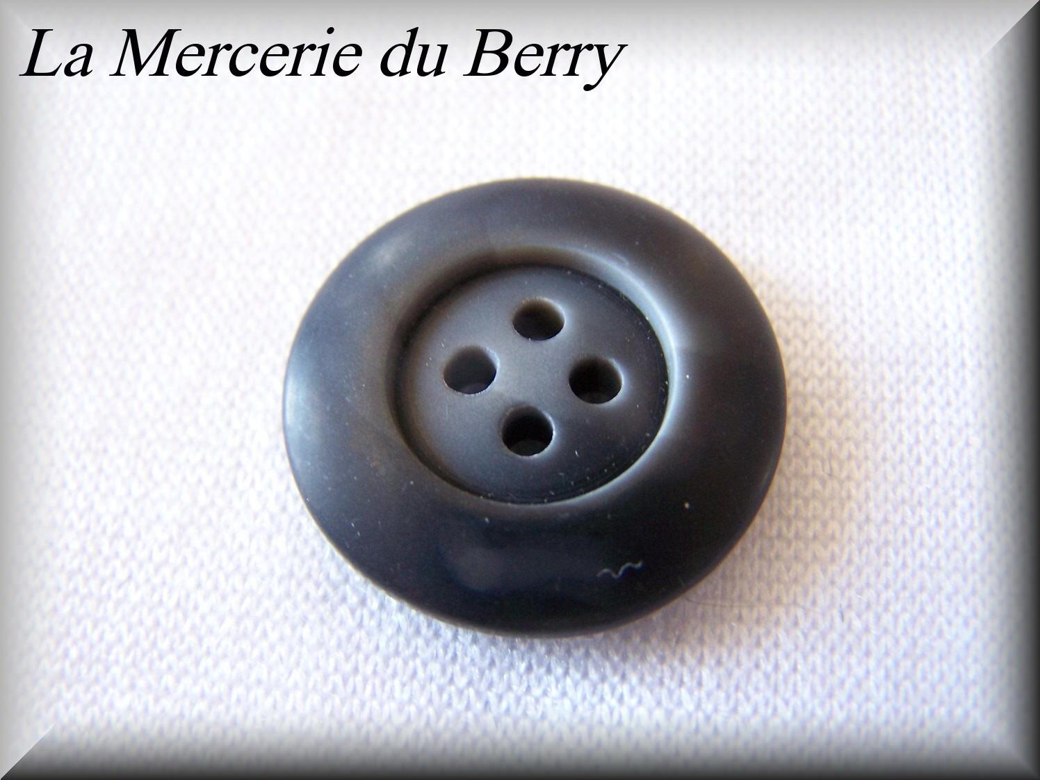 Bouton gris, 22 mm