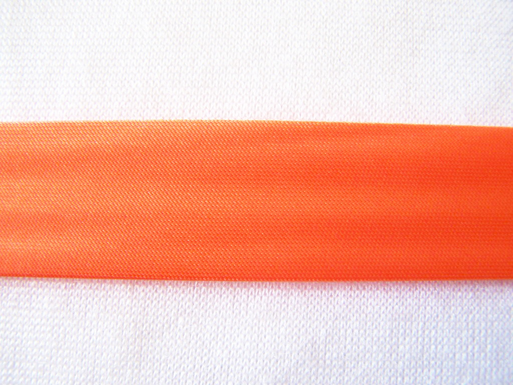 Biais satin, orange