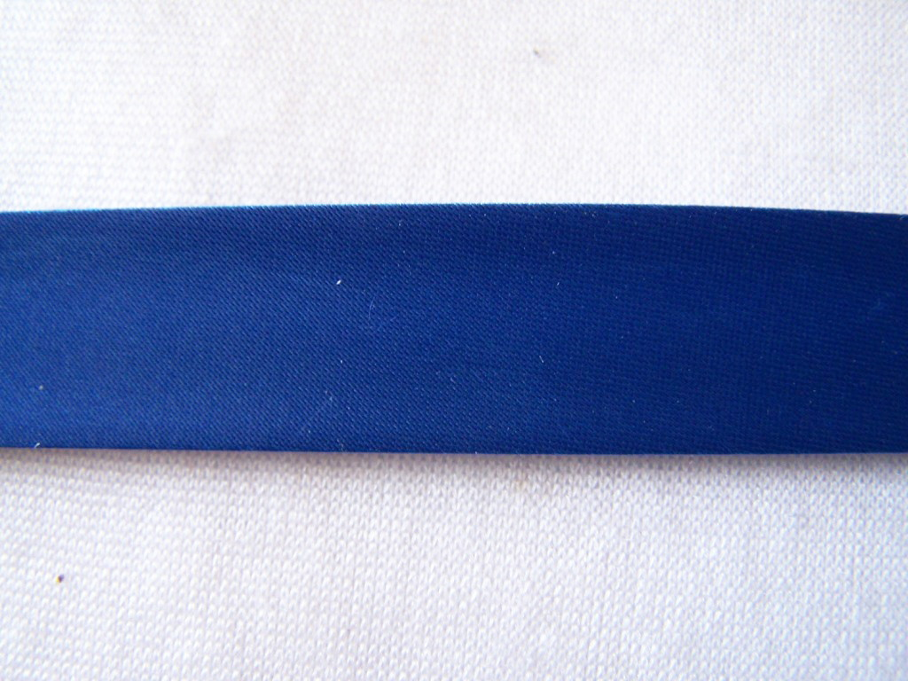Biais satin, bleu royal
