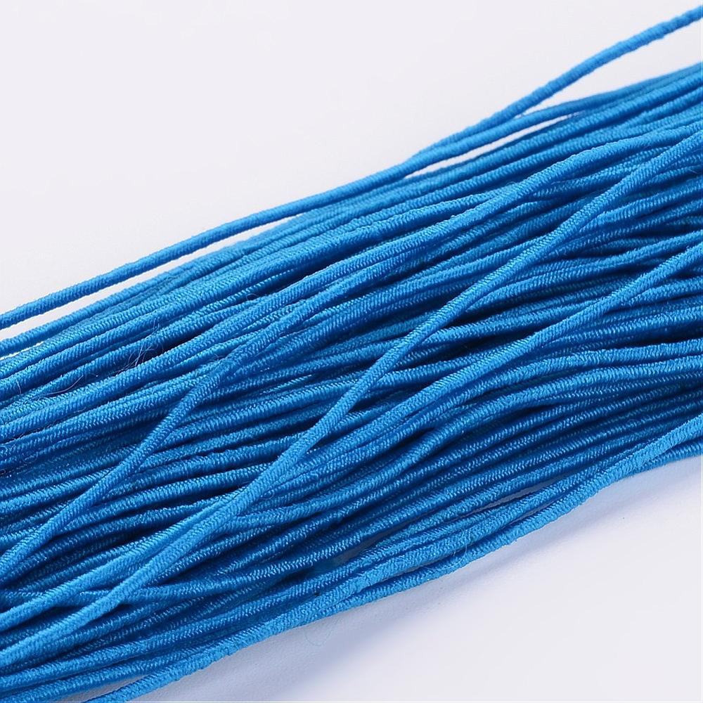Elastique rond, bleu dodger, 1 mm