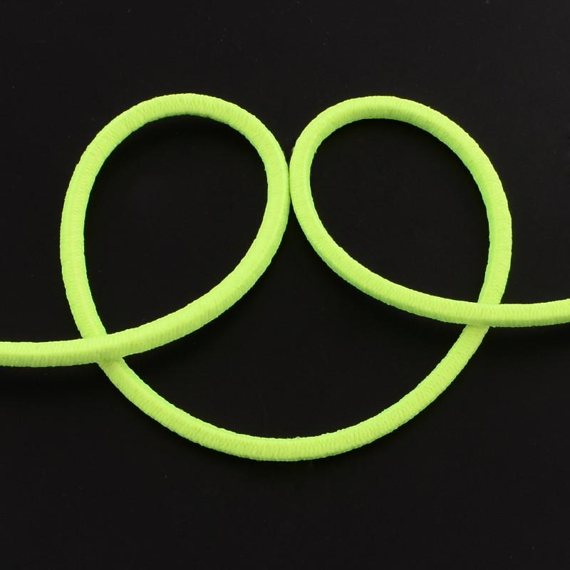 Elastique rond, jaune vert, 2.5 mm