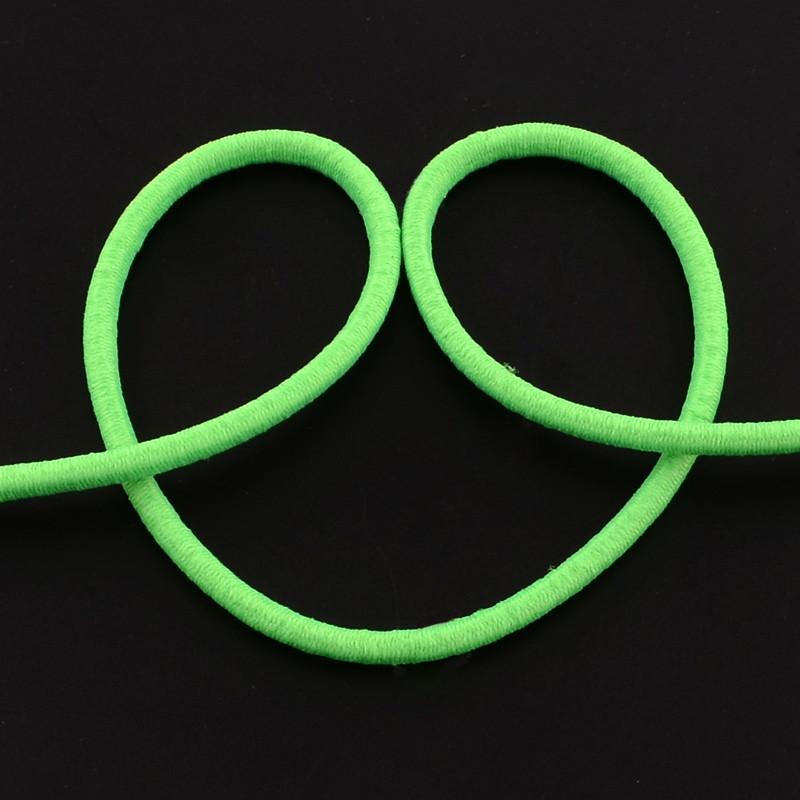 Elastique rond, vert fluo, 2.5 mm