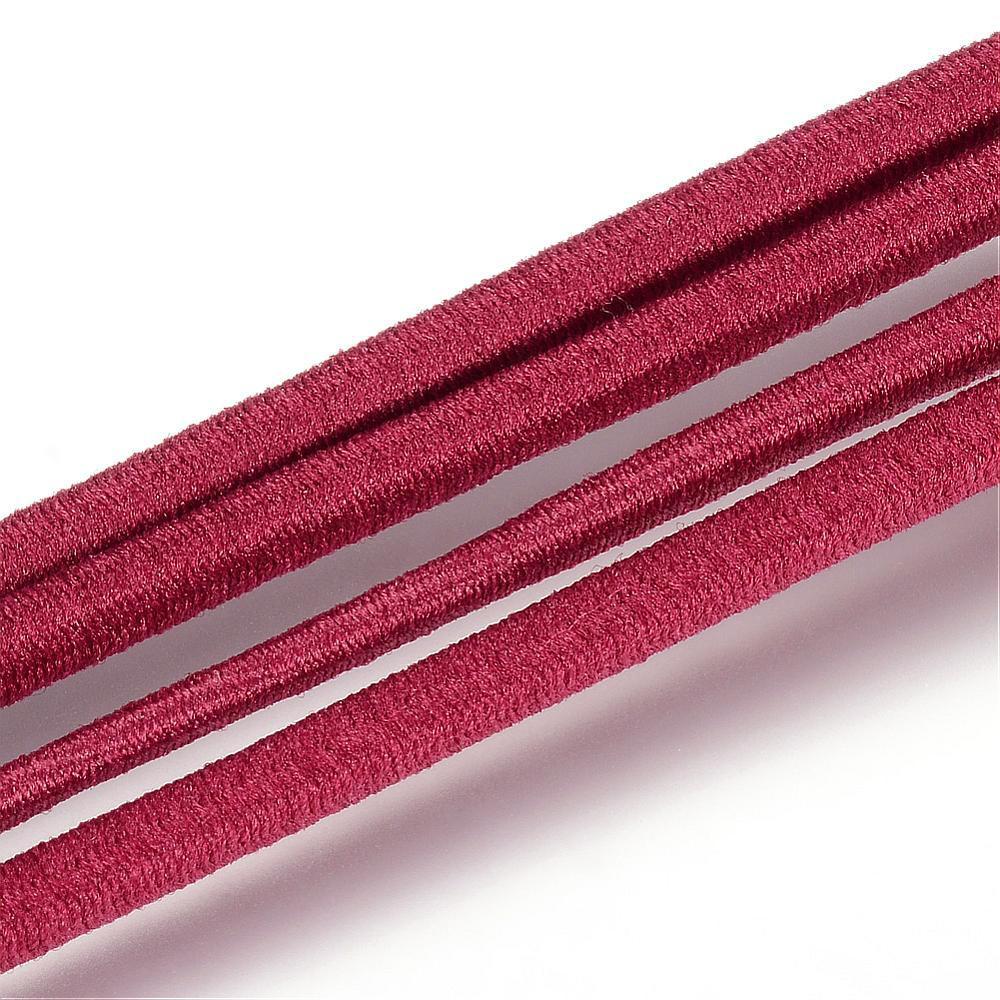 Elastique rond, rouge foncé, 2.5 mm