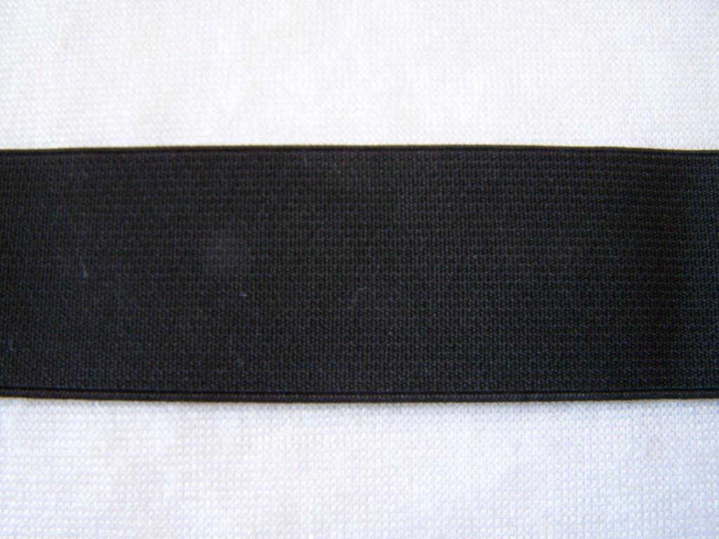Ruban élastique noir