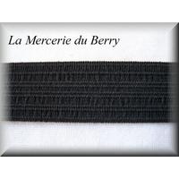 Elastique caleçon, noir, 25 mm