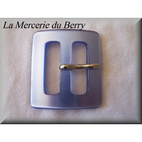 Boucle de ceinture, bleu, 46 x 40 mm
