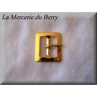 Boucle de ceinture, métal, doré, 22 x 19 mm