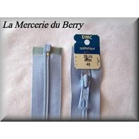 Fermeture à glissière, nylon, bleu layette