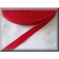 Sergé coton, rouge