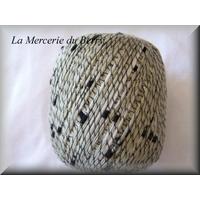 Coton à tricoter, gris vert