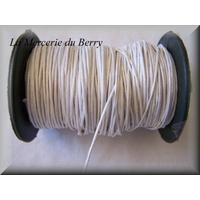 Cordon coton ciré blanc
