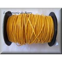Cordon coton ciré jaune