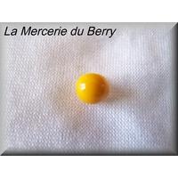 Bouton demie-boule, jaune moutarde, 8 mm