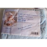 Cape de bain pour enfant, bleu layette