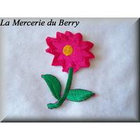 Ecusson fleur rose