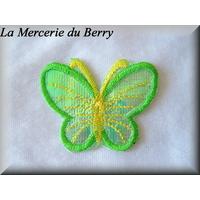 Ecusson papillon vert