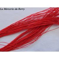 Elastique rond, rouge, 1 mm