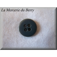 Bouton gris anthracite, 15 mm