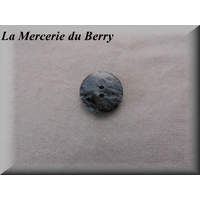 Bouton gris, 18 mm