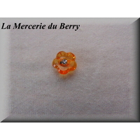 Bouton transparent, fleur, orange