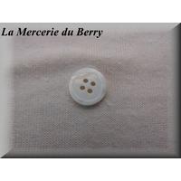 Bouton blanc, 14 mm