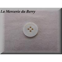 Bouton nacre, blanc, 18 mm