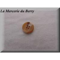 Bouton marbré beige, 15 mm