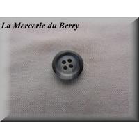 Bouton gris, marbré, diamètre 15 mm
