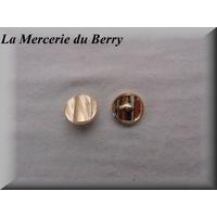 Bouton métal, 18 mm, doré