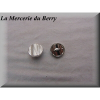Bouton métal, 18 mm, argenté
