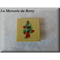 Bouton serviette de Noël