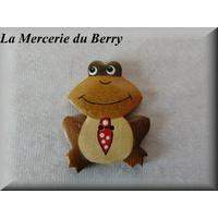 Bouton bois, grenouille