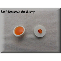 Bouton orange, 17 mm