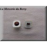 Bouton marron, 16 mm