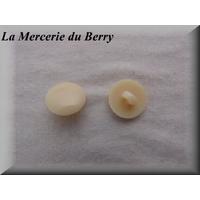 Bouton crème, 18 mm