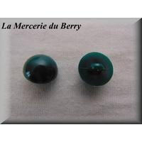 Bouton demie-boule, vert, 18 mm