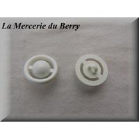 Bouton blanc ajouré, 22 mm