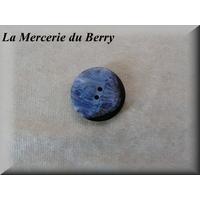 Bouton bleu marbré