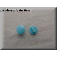 Bouton bleu pastel, 12 mm