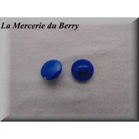 Bouton bleu marine, 12 mm