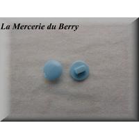 Bouton bleu ciel, 12 mm