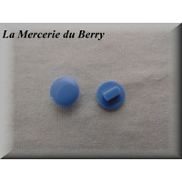 Bouton bleu gris, 12 mm