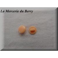 Bouton orange, 12 mm