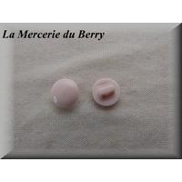 Bouton rose pâle, 12 mm